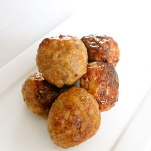 Sample chicken meat-balls Original 200gr (kant-en-klaar) (100% kipfilet) -0
