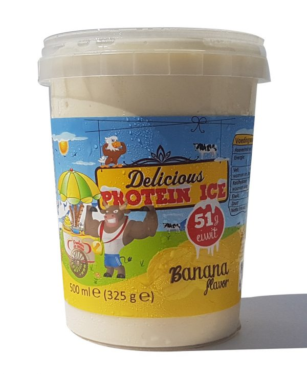 Delicious Protein Ice 500ml (Bananen smaak) (51gr eiwit) (Lab tested)-0