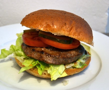 Sample low fat hamburger (150g)